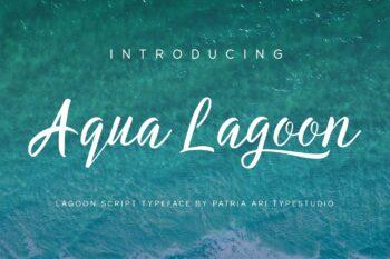 Aqua Lagoon Script Font by Patria Ari-01