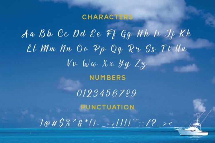 Aqua Lagoon Script Font by Patria Ari-07