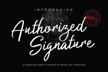 Authorized Signature Patria Ari Typestudio