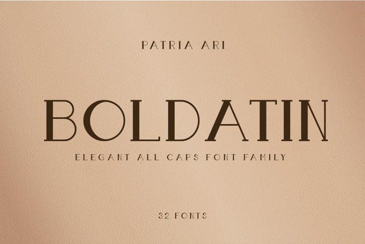 Boldatin Caps Font Family by Patria Ari