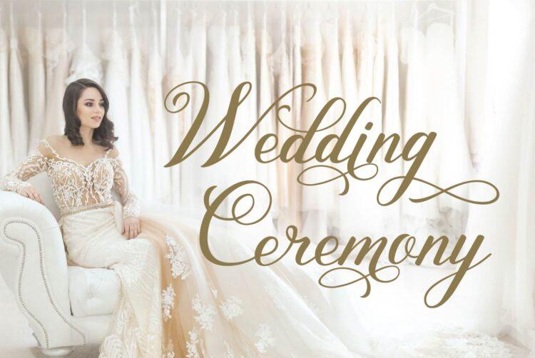 wedding cermony dress